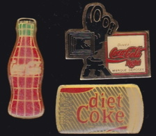 65520-Lot De 3 Pin's..Boisson.Coca-Cola. - Coca-Cola