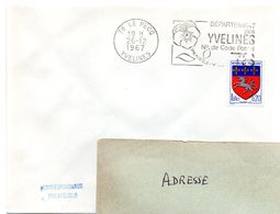 YVELINES - Dépt N° 78 = LE PECQ 1967 = FLAMME Codée à DROITE = SECAP  ' N° De CODE POSTAL / PENSEZ-Y ' - Postleitzahl