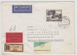 Österreich FLP+R+E-Brief Mit Guter EF Nach Leipzig AKs - 1945-.... 2de Republiek