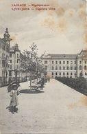 OLD POSTCARD - SLOVENIA - LAIBACH - LJUBLJANA - CIGALOVA ULICA - ANIMATA - VIAGGIATA 1908 - T70 - Slowenien