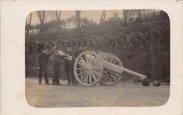 86 - VIENNE - MONTMORILLON - 10019 - Carte Photo - 1914 - Militaria - Canon - Montmorillon