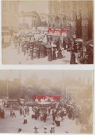 Eglise De Louviers 2 Photos De 1899 Montrant La Procession De La Fête Dieu - Oud (voor 1900)