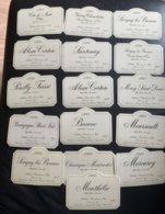 15001 - 16 étiquettes Neuves Arthur Barolet Et Fils 1985 - Bourgogne