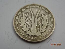 25 Francs Cfa AFRIQUE DE L'OUEST 1971 - Münzen