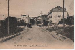 N°18 CHATEL-GUYON - Départ De L'Aubus Pour Riom ( Hôtel Barthélemy) - Châtel-Guyon