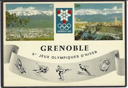 CPM Grenoble Jeux Olympiques 1968 Circulé Flamme Philatélique - Juegos Olímpicos