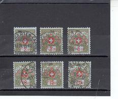 Suisse - Année 1911/21 - Franchise - Oblitéré - N°Zumstein 2A/7A - Avec Petits Numéros De Contrôle - Franchise