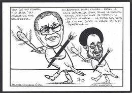 CPM Chine Tibet Caricature Satirique Tirage Limité Numéroté En 100 Exemplaires Signés Iran Perse - Tibet