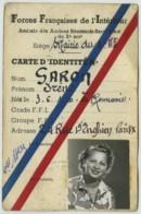 Guerre De 1939-45 . Carte Anciens FFI Irène Garon Née En Roumanie . Accusatrice Du Docteur Mengele à Auschwitz ? - Documenten
