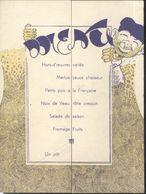 Menu Souvenir Du 87ème Bataillon De Chasseurs Alpin B.C.A. - Illustrateur Robba - Robert Bagage - Menus