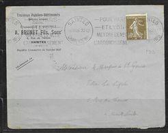 LOT 2006008 - N° 193 SUR LETTRE DE SAINTES DU 20/07/26 POUR MONTE CARLO - PIQUAGE A CHEVAL - 1877-1920: Période Semi Moderne