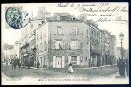 Cpa Du 53  Laval Carrefour Rue D' Ernée Et Rue De Joinville   AVR20-93 - Laval