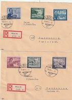 Deutsches Reich / 1944 / Mi. 888-893 Kpl. Auf 2 Reco-Briefen Ex Wien (BQ98) - Briefe U. Dokumente