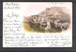 PRINCIPAUTÉ DE MONACO   - PALAIS DU PRINCE ET LA TÊTE DE CHIEN - Carte Ayant Circulé En Avril 1898 - Prinselijk Paleis