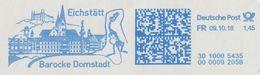 Germany 2018: Dinosaurs, Fossil, Juravenator, Natural History Museum, Eichstaett, Meter Franking, Postmark, Used Cover - Prehistorics