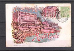 MONTE CARLO -   HERMITAGE HOTEL   RESTAURANT  - Carte Ayant Circulé Au Début Des Années 1900 - Hotels