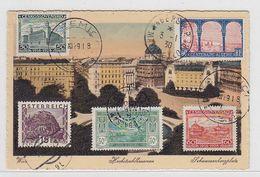 Österreich 1931 Farbige Maximumkarte Mit MIF - Maximumkaarten