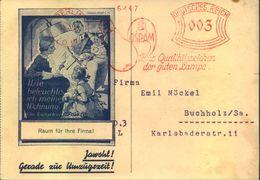 """1933, Werbekarte Der Firma """"OSRAM"""", Berlin Mit Besserem Absenderfreistempel - Lettres"""
