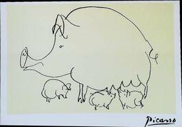 Picasso Cochon Pig La Truie Et Cochon De Lait - Varkens