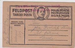 Österreich 1917 Feldpost Roter K+K Auf Beleg Nach Polnisch Ostrau - Briefe U. Dokumente