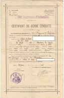 Certificat De Bonne Conduite 134ème R.I. Régiment D'Infanterie - Mâcon 1908 - Documents