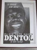 PUBLICITE  1940  ELIXIR DENTOL  Tirailleur Senegalais    + COINTREAU   Liqueur Digestive Jean Mercier - Werbung