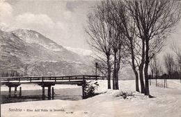 Sondrio Rive Dell'Adda In Inverno - Sondrio