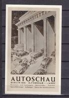 ALLEMAGNE CARTE SOUVENIR  562/563 AUTOSCHAU - Lettres & Documents