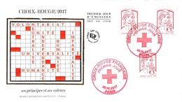 FRANCE. FDC. N°206612. 20/10/2017 .cachet Paris. Croix Rouge Française - 2010-....