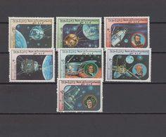 Laos 1984 Space, Kepler, Jules Verne, Copernicus, Newton Set Of 7 MNH - Espace