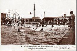 Water-polo - CPSM. TROUVILLE.  Une Partie De Water-polo. Joueurs - Arbitre - - Swimming