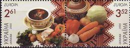 Ukraine, 2005, Mi. 719-20, Y&T 640-41, Sc. 596, SG 605-06, Europa, Gastronomy, MNH - Ukraine
