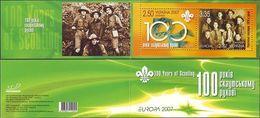 Ukraine, 2007, Mi. 858-59 (MH 9), Y&T C784, Sc. 681, Europa, Centenary Of Scouting, Booklet - Ukraine