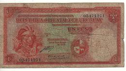 URUGUAY    1 Peso   P28a    Ley 14.8.1935   ( 2 Signatures) - Uruguay