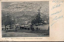 Sondrio Ponte Sul Mallero E Colline Di S,Lorenzo E S. Bartolomeo - Sondrio