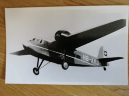 Koolhoven F.K.50 Of Alpar Switzerland - 1919-1938: Between Wars