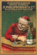 CPA 51 Marne Mareuil-sur-Ay Champagne Royal Mareuil P. Philipponnat & Cie Quel Champagne ! Dom Prérignon Hautvillers Pub - Mareuil-sur-Ay