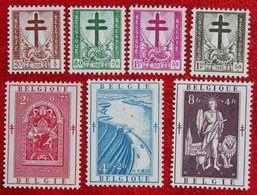 (3Fr Missing) Antituberculeux Tuberculose 1952 OBP 900-904 906 907  (Mi 952-956 958 959) POSTFRISMNH ** BELGIE BELGIUM - Unused Stamps