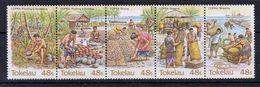 Tokelau - Copra Industry, Strip Of 5, UMM 1984 - Tokelau