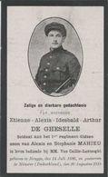 BP De Gheselle Etienne Alexis Idesbald Arthur (Brugge 1896 - Münster (D.) 1918) Gesneuvelde - Colecciones