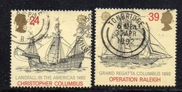 KS53A - GRAN BRETAGNA 1992, Unificato SERIE N. 1617/1618 Usata  (2380A) EUROPA COLOMBO - 1952-.... (Elizabeth II)