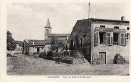CP 54 Meurthe Et Moselle Moivron Place Du Café De La Réunion - Other Municipalities