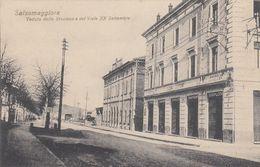SALSOMAGGIORE-PARMA-STAZIONE E VIALE XX SETTEMBRE-CARTOLINA NON VIAGGIATA ANNO 1910-1920 - Parma