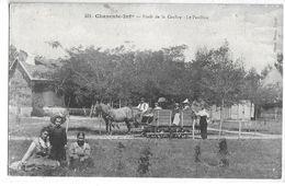 """CPA 17200 ROYAN  :  Forêt De La Coubre - Le Pavillon - HippoTram    1918  Cliché """"Braun"""" - Royan"""