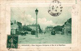 18343   TOULOUSE    PLACE ST CYPRIEN ET RUE DE LA REPIBLIQUE - Toulouse