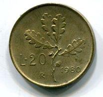 20 Lire (1980) - 1946-… : Republic