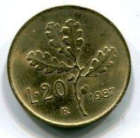 20 Lire (1987) - 1946-… : Republic