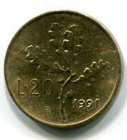 20 Lire (1991) - 1946-… : Republic