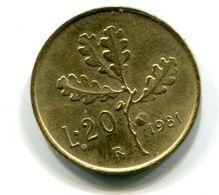 20 Lire (1981) - 1946-… : Republic