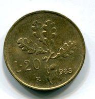 20 Lire (1988) - 1946-… : Republic